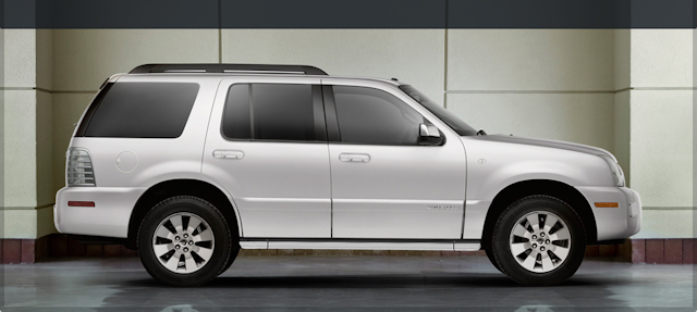 2010 Mercury Mountaineer, Right Side View, manufacturer, exterior