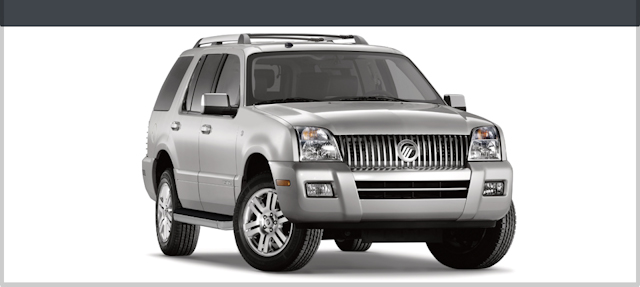 2010 Mercury Mountaineer, Front Right Quarter View, manufacturer, exterior