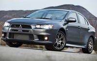 2010 Mitsubishi Lancer Evolution, Front Left Quarter View, manufacturer, exterior