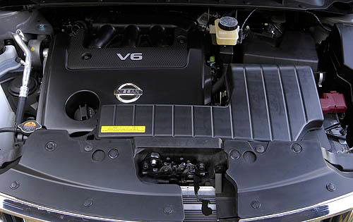 2010 Nissan Murano, Engine View, engine, manufacturer, gallery_worthy