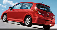 2010 Nissan Versa, Back Left Quarter View, exterior, manufacturer
