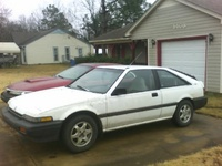 1989 Honda Accord DX Hatchback, The white car in this photo is mw 1989 Honda Accord DX hatchback., exterior