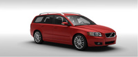2010 Volvo V50, Front Right Quarter View, manufacturer, exterior