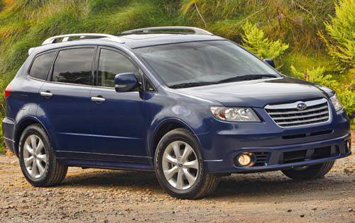 2010 Subaru Tribeca, Front Right Quarter View, manufacturer, exterior