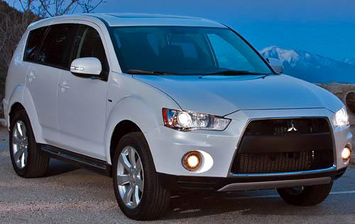 2010 Mitsubishi Outlander, Front Right Quarter View, manufacturer, exterior