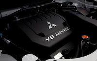 2010 Mitsubishi Outlander, Engine View, engine, manufacturer