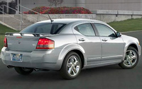 2010 Dodge Avenger, Back Right Quarter View, manufacturer, exterior