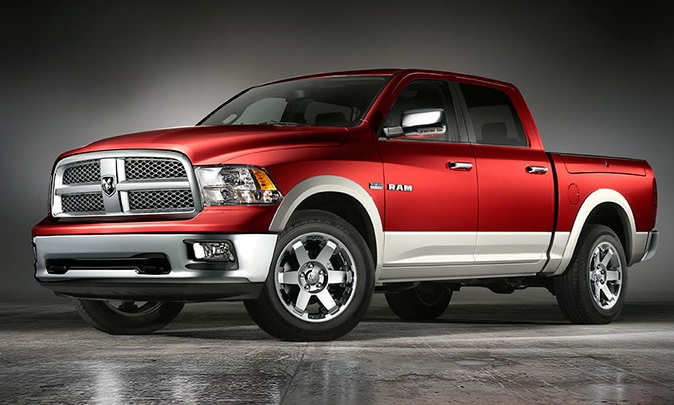 2010 Dodge Ram Pickup 1500, Front-quarter view, manufacturer, exterior
