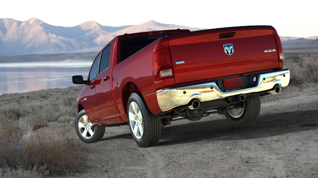 2010 Dodge Ram Pickup 1500, Back Left Quarter View, manufacturer, exterior