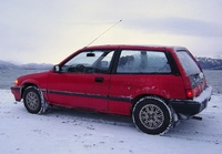 1986 Honda Civic S Hatchback, Homer, Alaska Jan 2010, HJK,Jr., exterior