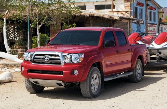 2010 Toyota Tacoma, Front-quarter view, exterior, manufacturer, gallery_worthy