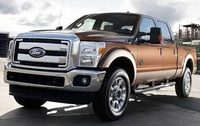 2010 Ford F-250 Super Duty, Front Left Quarter View, exterior, manufacturer