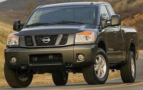 2010 Nissan Titan, Front Left Quarter View, exterior, manufacturer, gallery_worthy