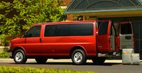 2010 Chevrolet Express Cargo, Back Left Quarter View, exterior, manufacturer, gallery_worthy