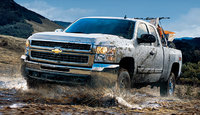 2010 Chevrolet Silverado 2500HD, Front Left Quarter View, exterior, manufacturer, gallery_worthy