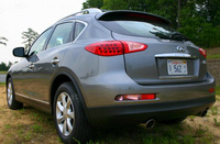 2009 Infiniti EX35, Back Left Quarter View, manufacturer, exterior