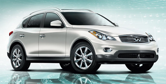 2009 Infiniti EX35, Front Right Quarter View, manufacturer, exterior
