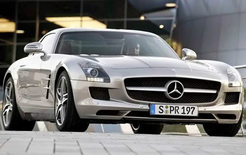 2010 Mercedes-Benz SLS-Class AMG, Front Right Quarter View, exterior, manufacturer