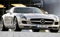 2010 Mercedes-Benz SLS-Class AMG, Front Right Quarter View, manufacturer, exterior
