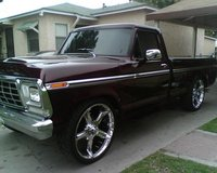 1979 Ford F-150, 1979 ford candy apple red paint job has a 460 big block engine, exterior