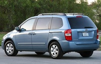 2009 Kia Sedona, Back Left Quarter View, manufacturer, exterior