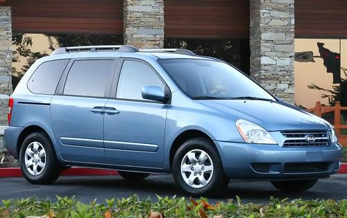 2009 Kia Sedona, Front Right Quarter View, exterior, manufacturer