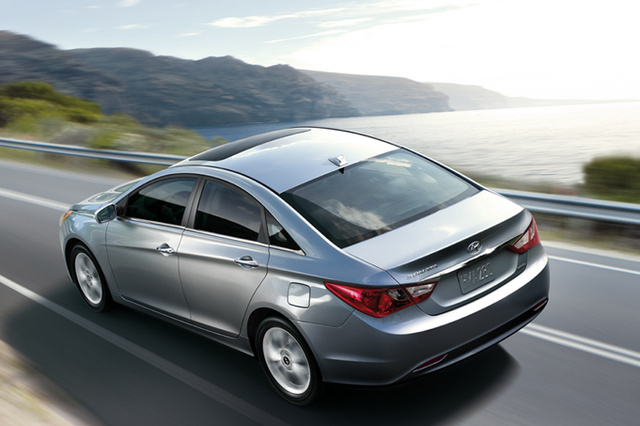 2011 Hyundai Sonata, Back Left Quarter View, exterior, manufacturer, gallery_worthy