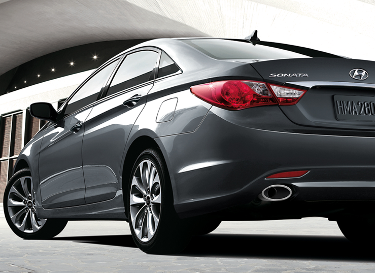 2011 Hyundai Sonata, Back Left Quarter View, manufacturer, exterior