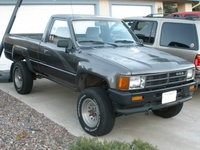 1988 Toyota Pickup, The Toyota Hilux 4x4 was my first car; I gave it the nickname Trueno which was Spanish for Thunder. Unfortunately for me and it, it was not as reliable as other 22RE equipped Toyot...