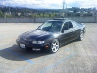 "1993 Mazda MX-6 2 Dr LS Coupe, Tockico Illumina Struts w/ H&R lowering Springs OZ Racing 17"" Rims on Dunlop Sport's, exterior"