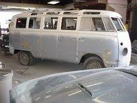 1967 Volkswagen Type 2, 1967 VW 21 window deluxe micro bus in body shop, exterior, gallery_worthy