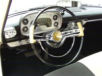 Not the pushbutton trans selector to the left of the steering wheel on the dash - 1958 Plymouth Fury picture- NOT a photo of the car my dad owned - found this on the net., interior