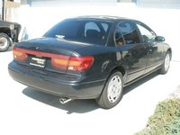 2001 Saturn S-Series 4 Dr SL2 Sedan, 3/4 view; that's a Stainless Steel weld-on tip