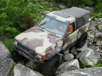 1984 Toyota 4Runner, I actualy bent my front bumper in this mess, exterior, gallery_worthy