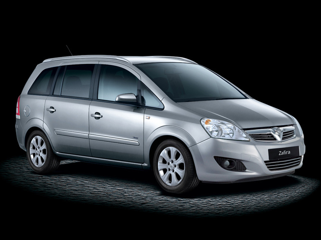 2010 Vauxhall Zafira, Front Right Quarter View, exterior, manufacturer