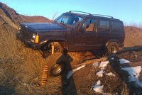 1996 Jeep Cherokee Sport 4-Door 4WD, Can you say flex? Yeah, its a shortarm., exterior, gallery_worthy