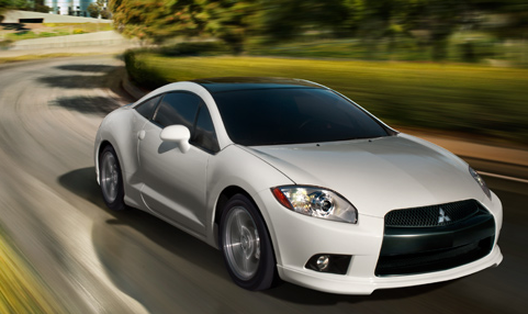 2011 Mitsubishi Eclipse, Front Right Quarter View, exterior, manufacturer