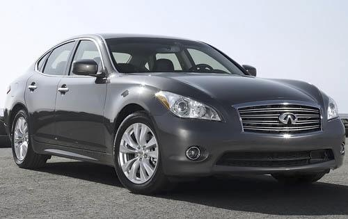 2011 INFINITI M56, Front Right Quarter View, exterior, manufacturer