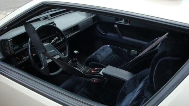 1988 Mitsubishi Starion, Black velour...quite possibly the best interior evar!, interior