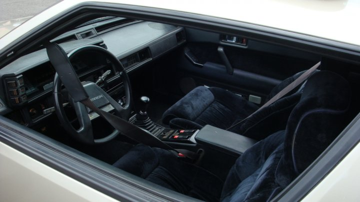 1988 Mitsubishi Starion, Black velour...quite possibly the best interior evar!, interior