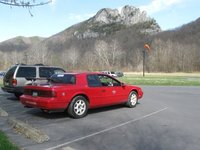 1990 Mercury Cougar XR7 Supercharged Coupe RWD, Senca rocks parking lot, exterior, gallery_worthy
