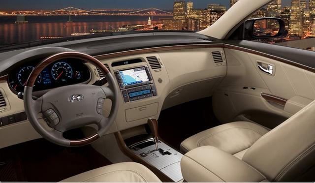 2011 hyundai azera front seat area interior manufacturer