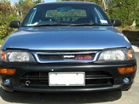 1996 Toyota Corolla DX, Front look of my wife: FX GT Bumper, FX GT head light (Japanese version) and TRD style front gill which brought it from Hong Kong, exterior