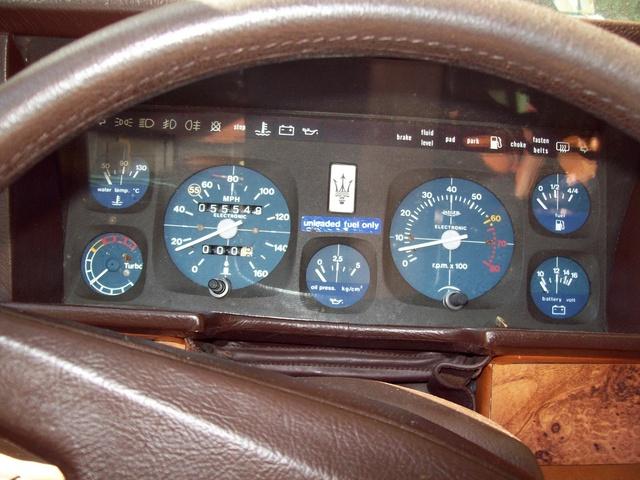 Maserati biturbo interior