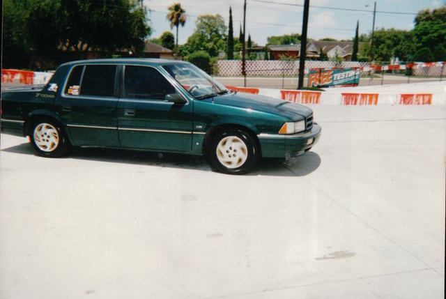 1995 Dodge Spirit 4 Dr STD Sedan, The Second CarShow I Organized and showcased my Car.   You can see I was doing a Burnout!, exterior, gallery_worthy