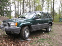 1996 Jeep Grand Cherokee Laredo 4WD, view of the jeep with the new wranglers, exterior