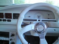 1994 Holden Commodore, the new leather stearing wheel, interior