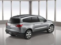 2011 Chevrolet Traverse, Back Right Quarter View, manufacturer, exterior