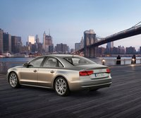 2011 Audi A8, Back Left Quarter View, manufacturer, exterior