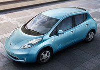 2011 Nissan Leaf, Front-quarter view from above, exterior, manufacturer